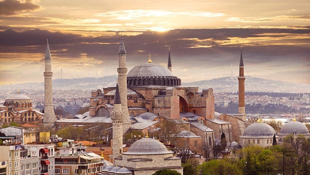 masjid aya sofya di istanbul turki