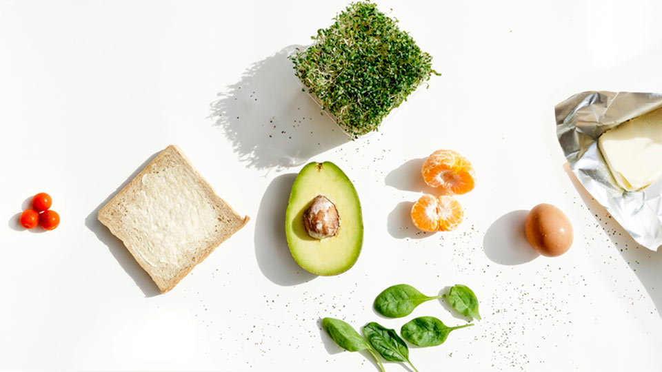 bahan-bahan roti panggang alpukat